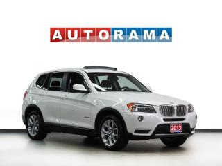 Used 2013 BMW X3 NAVIGATION LEATHER PANORAMIC SUNROOF 4WD for sale in Toronto, ON
