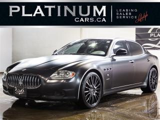 Used 2010 Maserati Quattroporte S 4.7, 425HP, NAVI, PADDLE SHIFT, HEATED LTHR for sale in North York, ON