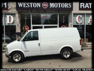 Used 2002 GMC Safari CARGO* MECHANIC SPECIAL* RUSTY BODY* SOLD AS IS* for sale in York, ON