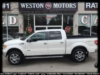 Used 2011 Ford F-150 LARIAT*CREWCAB*4X4*CHROME PKG*LEATHER*SUNROOF* for sale in York, ON
