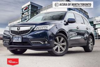 Used 2016 Acura MDX Elite Accident Free| DVD| Remote Start| for sale in Thornhill, ON