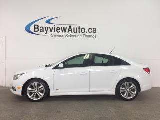 Used 2014 Chevrolet Cruze 2LT RS- 6 SPD! TURBO! SUNROOF! HTD LTHR! MY LINK! PIONEER! REV CAM! for sale in Belleville, ON