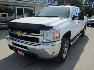 Used 2013 Chevrolet Silverado 2500 HD 3/4 TON DIESEL WORK READY LS MODEL 6 PASSENGER 6.6L - DURAMAX.. 4X4.. CREW.. SHORTY.. CD/AUX INPUT.. TRAILER BRAKE.. for sale in Bradford, ON