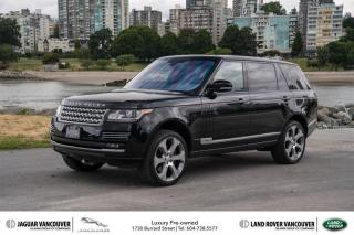 Used 2016 Land Rover Range Rover V8 Autobiography Supercharged LWB (2016.5) *Certified Pre-Owned! for sale in Vancouver, BC