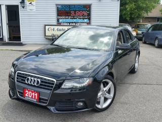 Used 2011 Audi A4 Auto quattro 2.0T LOW km $219 bi weekly oac for sale in Brampton, ON