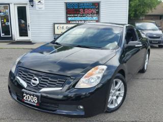 Used 2008 Nissan Altima 2dr Cpe V6 3.5 SE leather sunroof amazing for sale in Brampton, ON