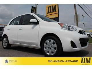 Used 2017 Nissan Micra SV  A/C CRUISE GR. ELECTRIQUE BLUETOOTH for sale in Salaberry-de-Valleyfield, QC
