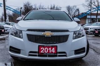Used 2014 Chevrolet Cruze LT REMOTE STAR/BLUETOOTH/ACCIDENT FREE for sale in Brampton, ON