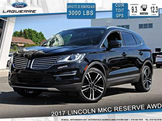 Used 2017 Lincoln MKC Reserve Awd Cuir for sale in Victoriaville, QC