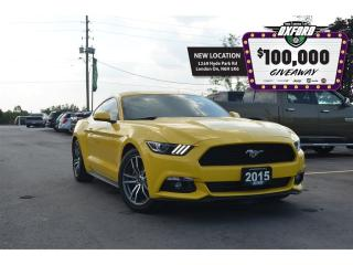 Used 2015 Ford Mustang EcoBoost - RWD, GPS, GPS, Bluetooth, Back Up Cam, for sale in London, ON