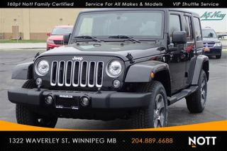 Used 2017 Jeep Wrangler Unlimited Sahara Nav Heated Se for sale in Winnipeg, MB
