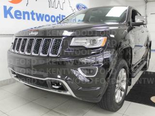 Used 2015 Jeep Grand Cherokee Overland trail rated 4x4 with NAV, sunroof, heated/cooled power leather seats, heated steering wheel and a back up cam for sale in Edmonton, AB