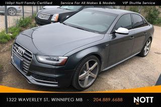 Used 2016 Audi S4 3.0T Technik Plus AWD Nav Back for sale in Winnipeg, MB