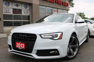 Used 2013 Audi S5 3.0T Quattro. Navigation. White On Red. Local for sale in North York, ON