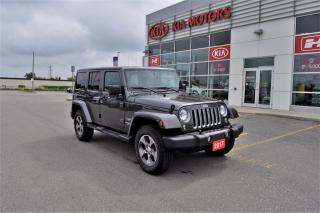 Used 2017 Jeep Wrangler Unlimited | Sahara | Navigation | Low KM for sale in Stratford, ON