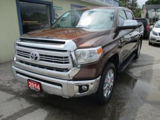 Used 2014 Toyota Tundra LOADED 1794 EDITION 5 PASSENGER 5.7L - V8.. 4X4.. CREW.. SHORTY.. LEATHER.. HEATED/AC SEATS.. NAVIGATION.. SUNROOF.. BACK-UP CAMERA.. JBL AUDIO.. for sale in Bradford, ON