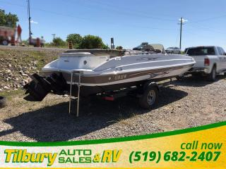 Used 2008 GREW Fun Deck 200 Deck Boat Comes with trailer! Merc for sale in Tilbury, ON
