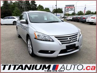 Used 2015 Nissan Sentra SL+Camera+GPS+Sunroof+Leather Heated Seats+Alloys+ for sale in London, ON