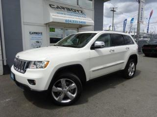 Used 2012 Jeep Grand Cherokee Overland 4WD, 5.7L V8, Nav, Pano Roof, Low Kms.!! for sale in Langley, BC
