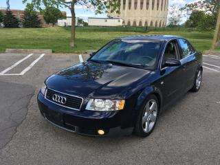 Used 2003 Audi A4 3.0L Quattro for sale in Toronto, ON
