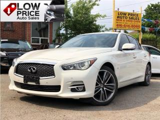 Used 2015 Infiniti Q50 Leather*Sunroof*Navi*BlindSpot*DRC*InfinitiWarr* for sale in York, ON