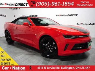 Used 2017 Chevrolet Camaro 2LT| LOW KM'S| CONVERTIBLE| LEATHER| NAVI| for sale in Burlington, ON