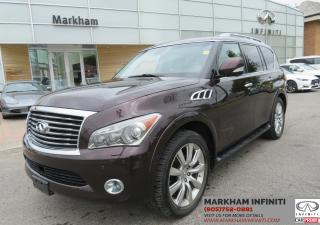 Used 2012 Infiniti QX56 AWD, Tech, Navi, DVD, BSM, Sunroof for sale in Unionville, ON