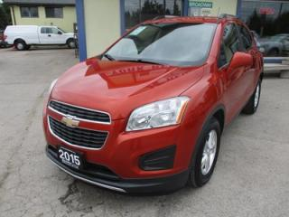 Used 2015 Chevrolet Trax LOADED LT MODEL 5 PASSENGER 1.4L - ECO-TEC.. LEATHER TRIM.. BOSE AUDIO.. BACK-UP CAMERA.. BLUETOOTH.. CD/AUX/USB INPUT.. for sale in Bradford, ON