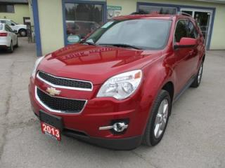 Used 2013 Chevrolet Equinox LOADED 2-LT MODEL 5 PASSENGER 2.4L - ECO-TEC.. LEATHER.. HEATED SEATS.. SUNROOF.. BACK-UP CAMERA.. BLUETOOTH.. for sale in Bradford, ON