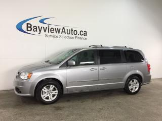 Used 2017 Dodge Grand Caravan Crew - ALLOYS! STOW 'N GO! HTD LTHR! DVD! NAV! PWR LIFTGATE! for sale in Belleville, ON