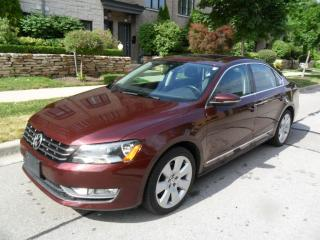 Used 2012 Volkswagen Passat TDI, NAV, SUNROOF, LEATHER, HIGHLINE, CERTIFIED for sale in Etobicoke, ON