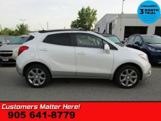 Used 2014 Buick Encore Premium  AWD NAV LEATH ROOF LD CW BS CAM BOSE 2X-P/SEATS RAIN-SE for sale in St Catharines, ON