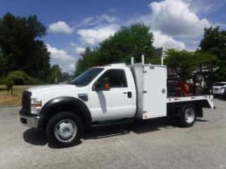 Used 2009 Ford F-550 Regular Cab 4WD 8.5 Foot Flat Deck with Welder for sale in Burnaby, BC