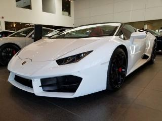 Used 2017 Lamborghini Huracan 580-2 Spyder | V10 | Warranty Remaining | Scissor Doors! for sale in Edmonton, AB