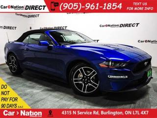 Used 2018 Ford Mustang EcoBoost| CONVERTIBLE| LEATHER| for sale in Burlington, ON
