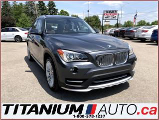 Used 2015 BMW X1 xDrive-Camera-GPS-Pano Roof-Brown Power Leather for sale in London, ON