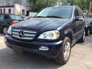 Used 2005 Mercedes-Benz ML 350 Low KMs 154K/Leather/Sunroof/MINT CONDITION for sale in Scarborough, ON