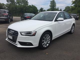 Used 2013 Audi A4 2.0T QUATTRO * AWD * LEATHER * SUNROOF * BLUETOOTH * HEATED SEATS for sale in London, ON