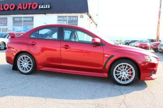 Used 2010 Mitsubishi Lancer Evolution Evolution GSR 5 SPEED MANUAL CERTIFIED 2YR WARRANTY for sale in Milton, ON