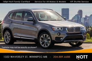 Used 2017 BMW X3 xDrive28i Nav HUD Harman Kardo for sale in Winnipeg, MB