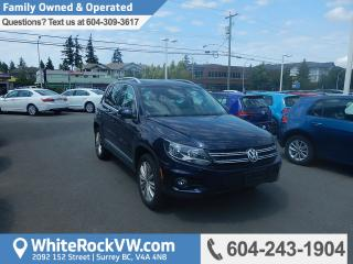 Used 2017 Volkswagen Tiguan Comfortline Rear View Camera, Bluetooth & Heated Front Seats for sale in Surrey, BC