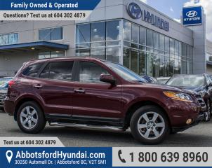 Used 2008 Hyundai Santa Fe Limited BC OWNED for sale in Abbotsford, BC