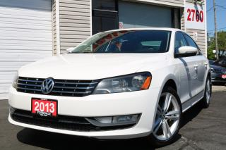 Used 2013 Volkswagen Passat 2.0 TDI Comfortline . Leather. Roof. Original Car for sale in North York, ON