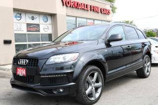 Used 2014 Audi Q7 3.0L S Line. 7 Passengers. Navi. Panoramic Very Clean for sale in North York, ON