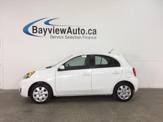 Used 2015 Nissan Micra SV - AUTO! A/C! REVERSE CAM! BLUETOOTH! CRUISE! for sale in Belleville, ON