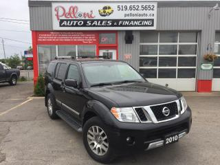 Used 2010 Nissan Pathfinder LE 4X4 LEATHER SUNROOF BACK-UP CAM BLUETOOTH for sale in London, ON