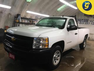 Used 2013 Chevrolet Silverado 1500 WT*REGCAB*LONG BOX*BOX LINER*CLIMATE CONTROL*2WD*8 FOOT PICKUP BOX*CRUISE CONTROL*TRACTION CONTROL*TOW MODE*BACK RACK*AM/FM/CD/AUX* for sale in Cambridge, ON