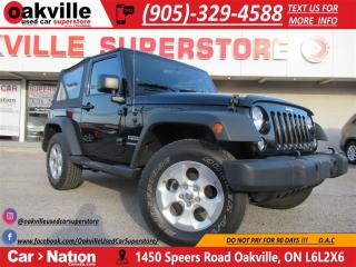 Used 2014 Jeep Wrangler Sport | 4X4 | RARE SPEC | LOW KM!! | A/C | B\U CAM for sale in Oakville, ON
