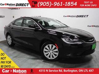 Used 2016 Chrysler 200 LX| TOUCH SCREEN| PUSH START| for sale in Burlington, ON
