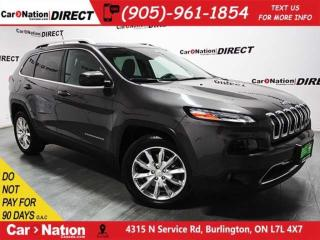 Used 2017 Jeep Cherokee Limited| LEATHER| PANO ROOF| NAVI| for sale in Burlington, ON